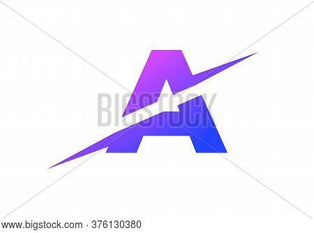 U Letter Logo With Slice Concept Vector. Colorful Slice U Letter Logo Modern, Minimal, Elegant, Bran