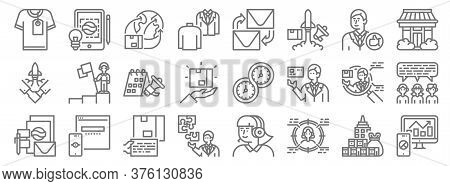 Branding Line Icons. Linear Set. Quality Vector Line Set Such As Analysis, Target, Jigsaw, Template,