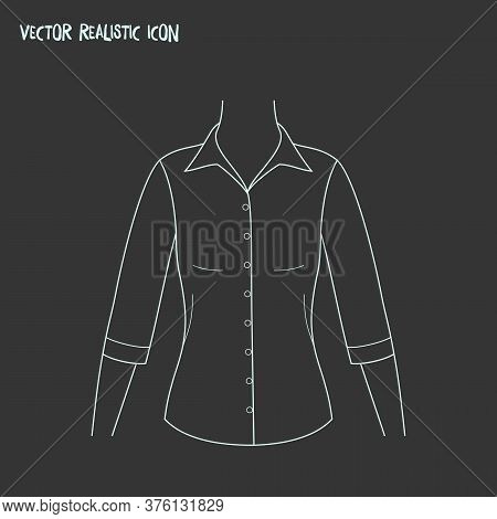 Mid Sleeve Shirt Icon Line Element. Vector Illustration Of Mid Sleeve Shirt Icon Line Isolated On Cl