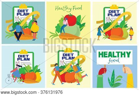 Food, Diet, Healthy Lifestyle And Weight Loss Banner With A Dish Of Salad, Table Set, Smartphone And