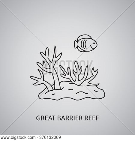 Great Barrier Reef In Australia. Coral Sea