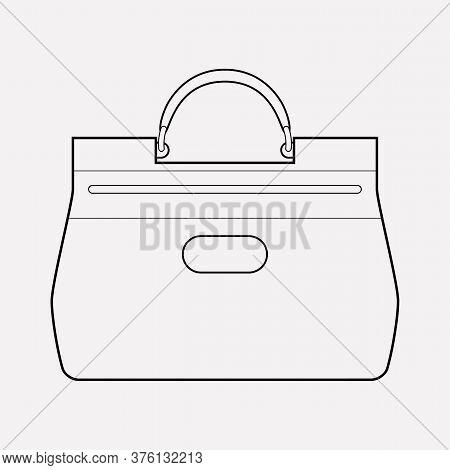 Handheld Bag Icon Line Element. Vector Illustration Of Handheld Bag Icon Line Isolated On Clean Back