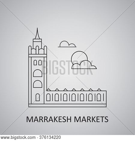 Marrakesh Markets, Morocco. Marrakech Morocco Skyline Icon