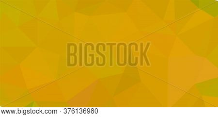 Creative Design Yellow Template Random Bright Colors Low Poly Background