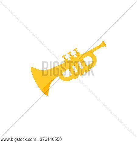 Cornet Pipe Flat Style Sign Illustration Isolated On White Background
