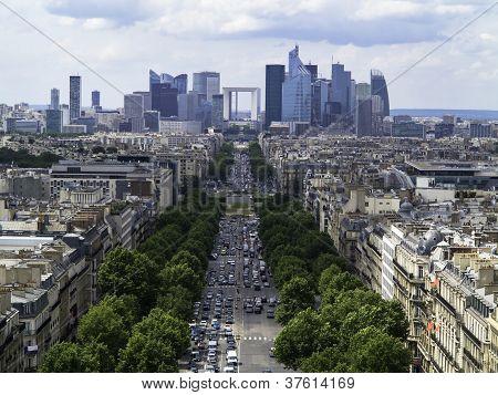 The Paris Business District from the Arc de Triomphe