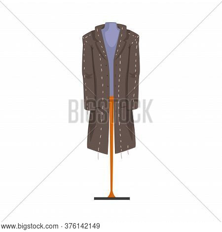 Male Fashion Clothes On Dummy, Male Mannequin For Tailoring Vector Illustration