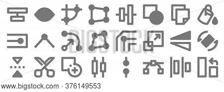Graphic Design Line Icons. Linear Set. Quality Vector Line Set Such As Rotate, Nodes, Align, Flip, F
