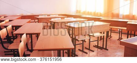 Empty School Class During School Holidays, Back To School, Children Education.