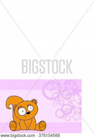 Baby Kawaii Squirrel Toy Cartoon Wallpaper Background In Vector Format