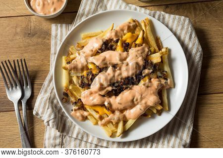 Homemade Fried Animal Cheese French Fries