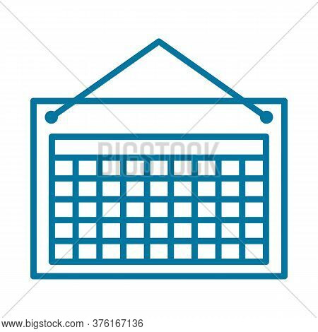 Calendar Icon Isolated On White Background From Office Collection. Calendar Icon Trendy And Modern C