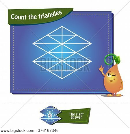 Puzzle Game For Children And Adults. Count The Figures