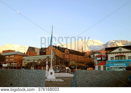 Cityscape Of Ushuaia, The World's Most Southern City, Tierra Del Fuego Province, Argentina, Patagoni