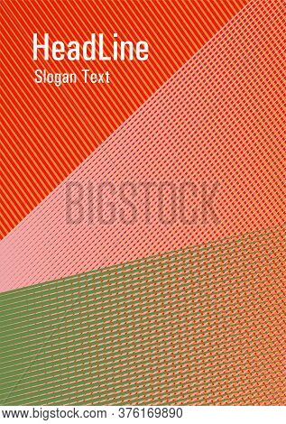 Brochure Cover Page Layout Halftone Vector Design. Abstract Business Catalog Concept. Magic Notebook