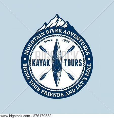 Vector Mountain River Kayaking Logo