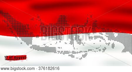 Independence Day Indonesia Flag National Indonesia With Dot Maps Indonesia Design Background