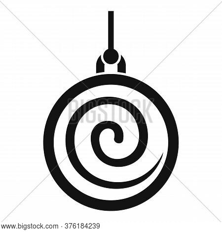 Spiral Pendulum Icon. Simple Illustration Of Spiral Pendulum Vector Icon For Web Design Isolated On