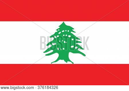 National Lebanon Flag, Official Colors And Proportion Correctly. National Lebanon Flag.