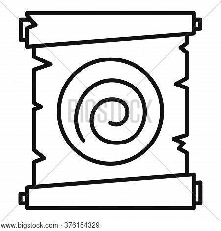 Hypnosis Spiral Papyrus Icon. Outline Hypnosis Spiral Papyrus Vector Icon For Web Design Isolated On