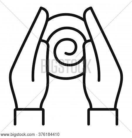 Hypnosis Hands Icon. Outline Hypnosis Hands Vector Icon For Web Design Isolated On White Background