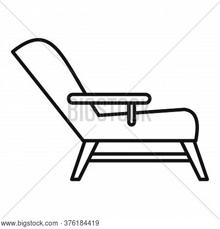 Hypnotherapy Armchair Icon. Outline Hypnotherapy Armchair Vector Icon For Web Design Isolated On Whi