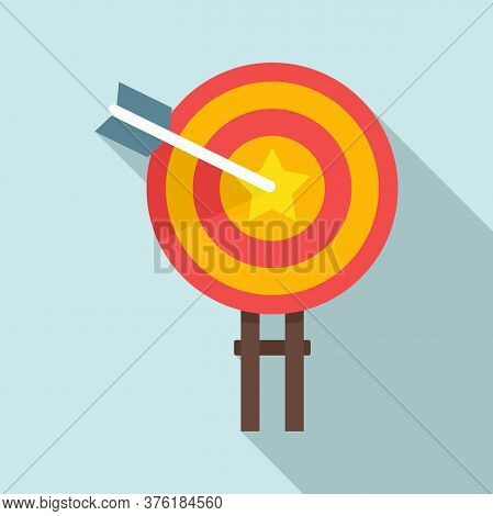 Excellence Target Icon. Flat Illustration Of Excellence Target Vector Icon For Web Design