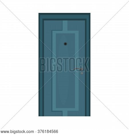 Hall Door. Steel, Door Spy, Entrance. Illustration Can Be Used For Topics Like Doorway, Home, Apartm