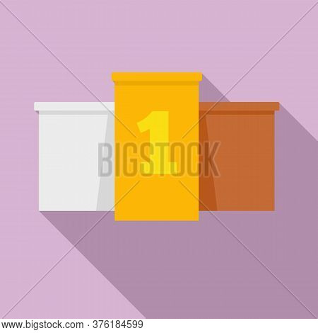Excellence Podium Icon. Flat Illustration Of Excellence Podium Vector Icon For Web Design