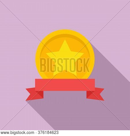 Excellence Emblem Icon. Flat Illustration Of Excellence Emblem Vector Icon For Web Design