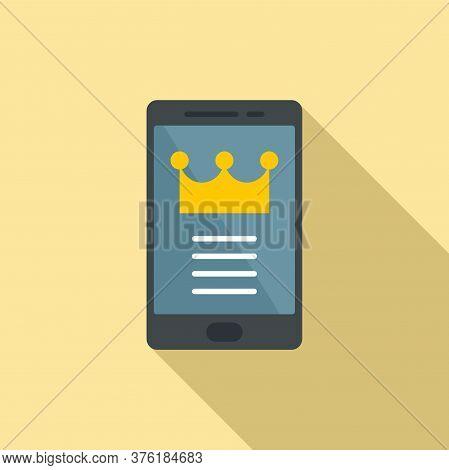 Premium Smartphone Icon. Flat Illustration Of Premium Smartphone Vector Icon For Web Design