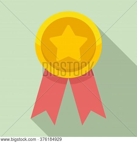 Star Premium Emblem Icon. Flat Illustration Of Star Premium Emblem Vector Icon For Web Design