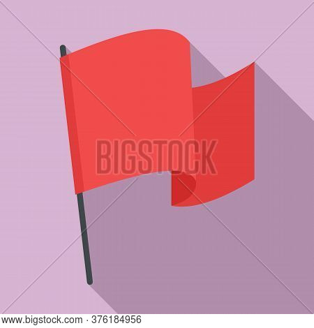 Award Flag Excellence Icon. Flat Illustration Of Award Flag Excellence Vector Icon For Web Design