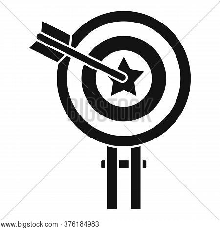 Excellence Target Icon. Simple Illustration Of Excellence Target Vector Icon For Web Design Isolated