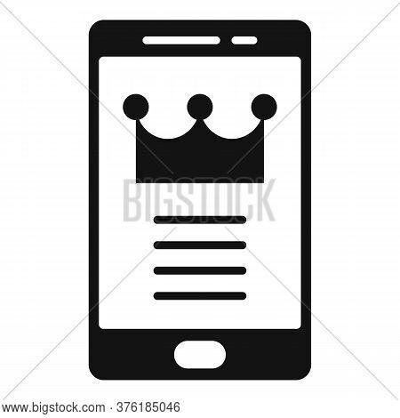 Premium Smartphone Icon. Simple Illustration Of Premium Smartphone Vector Icon For Web Design Isolat