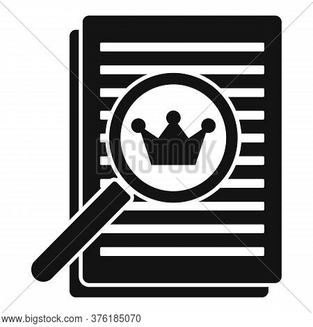 Excellence Paper Report Icon. Simple Illustration Of Excellence Paper Report Vector Icon For Web Des