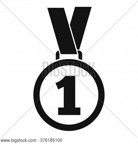 Gold Premium Medal Icon. Simple Illustration Of Gold Premium Medal Vector Icon For Web Design Isolat