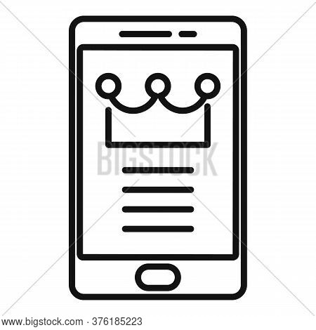 Premium Smartphone Icon. Outline Premium Smartphone Vector Icon For Web Design Isolated On White Bac