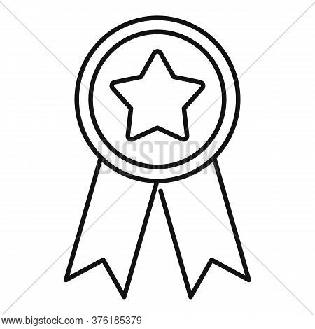 Star Premium Emblem Icon. Outline Star Premium Emblem Vector Icon For Web Design Isolated On White B