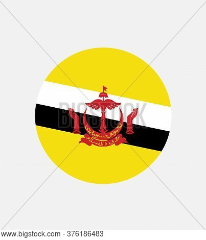 Brunei Flag, Official Colors And Proportion Correctly. National Brunei  Flag.
