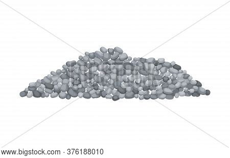 Heap Building Material. Heap Of Gravel. Vector Illustrations Can Be Used For Construction Sites, Wor