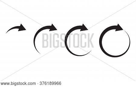 Arrow circle icons isolated on white background. Vector illustraion