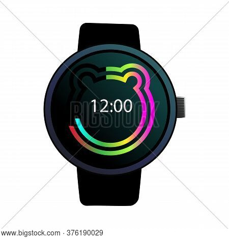 Digital Wristwatch Illustration. Clock, Hand, Accessorise. Style And Fashion Concept. Illustration C