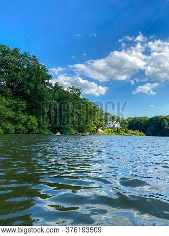 A Beautiful Day On Lake Lefferts In Monmouth County New Jersey.