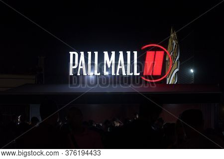 Belgrade, Serbia - August 17, 2019: Pall Mall Tobacco Cigarettes Logo In Front Of Their Retailer In
