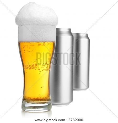 Beer Glass And Cans