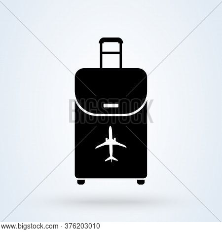 Airport Baggage Reclaim Icon. Airplane Luggage Sign. Symbol, Logo Illustration.
