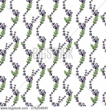 Abstract Seamless Floral Romantic Pattern For Wallpaper Design. Decorative Textile Background. Vinta