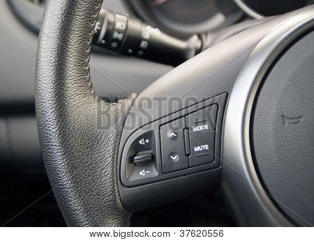 Black wheel of car