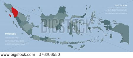 Vector Template Indonesia Map And Province Sumatra